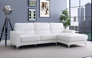 memphis sectional sofa in white bonded leather by whiteline With sectional sofas memphis