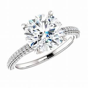9mm 3 carat round forever one moissanite diamond With the forever diamond wedding ring
