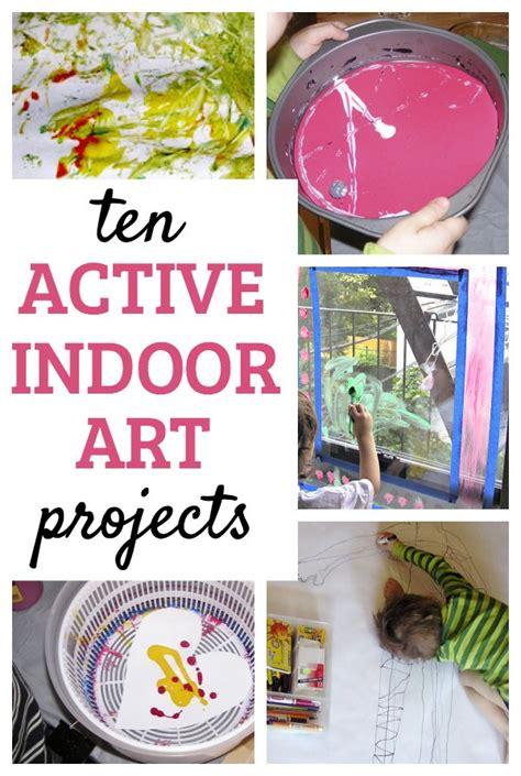 indoor active art projects  kids