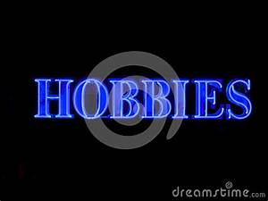 Neon Hobbies Sign Royalty Free Stock Image