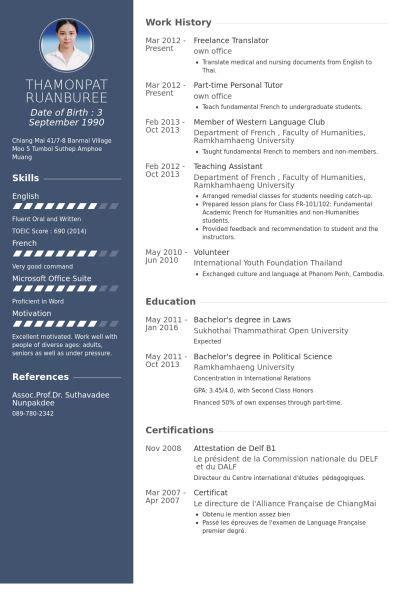 resultado de imagem  translator curriculum freelance