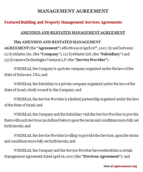 property management agreement template agreement template category page 39 efoza