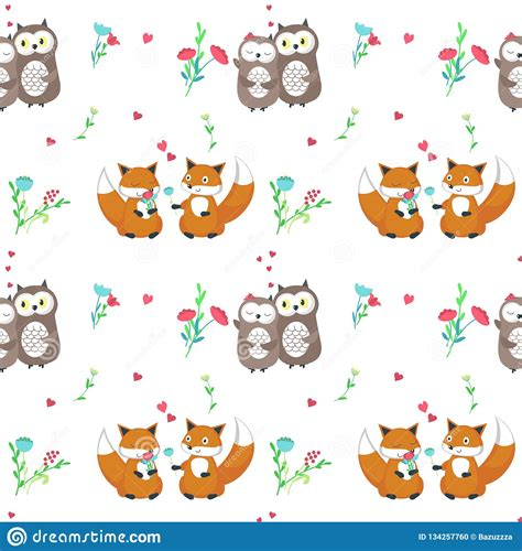 Check out our lion couple svg selection for the very best in unique or custom, handmade pieces from our shops. Vector Seamless Pattern With Cute Animals Couples Stock ...