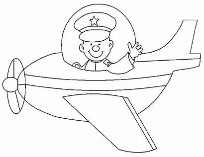Coloring Pages Stunt Drawing Pilot Animated Piloot