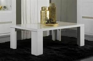Table Basse Blanc Laqué : table basse tania laque blanc blanc alu ~ Teatrodelosmanantiales.com Idées de Décoration