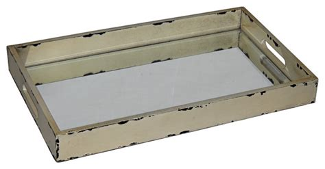 white distressed tray distressed mirrored tray contemporary serving trays 1025