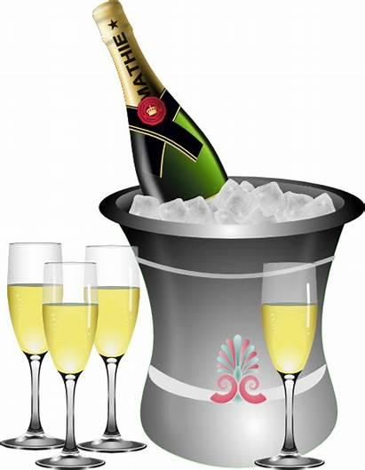 Celebration Champagne Clip Eve Clipart Clker