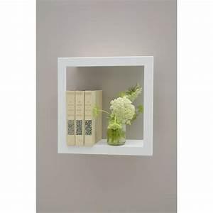 Etagere Cadre Photo : cadre carr tag re presse citron blanc ~ Teatrodelosmanantiales.com Idées de Décoration