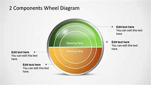 2 Components Wheel Diagram For Powerpoint