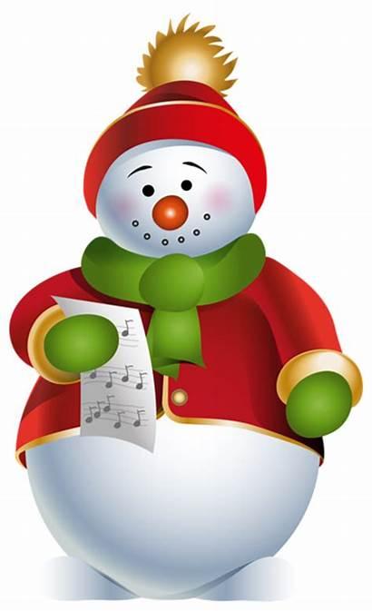 Snowman Transparent Christmas Clipart Clip Cartoon Background