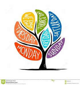 Days of the Week Clip Art Tree