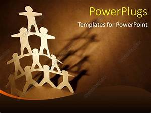 powerpoint template human team pyramid on dark brown With team building powerpoint presentation templates