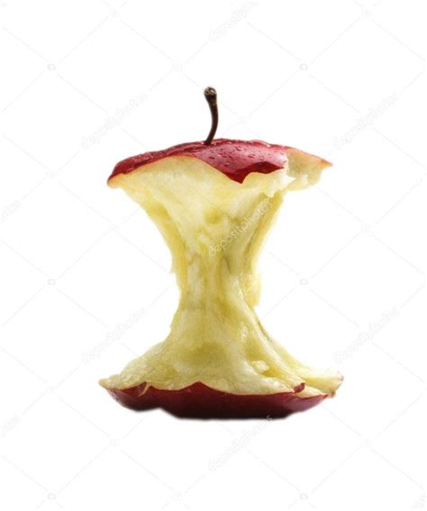 Tranche de pomme isolée sur blanc — Photographie ...