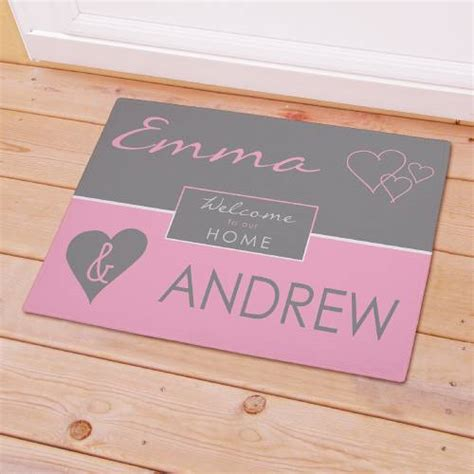 Welcome To Our Home Doormat by Personalized Welcome To Our Home Doormat Couples Names