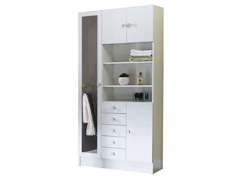 conforama colonne salle de bain armoire de salle de bain 1 miroir 4 portes 5 tiroirs weni coloris blanc vente de armoire