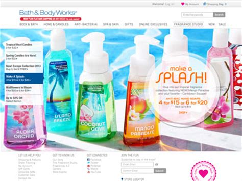 And Bath Collection Website by Bath Works Tropical Collection Bath Fragrance