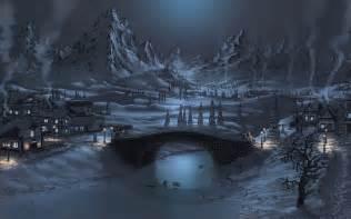 Mountain King Christmas Trees by Night Snow Wallpaper Background Wallpapersafari