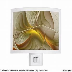 Colors, Of, Precious, Metals, Abstract, Fractal, Art, Night