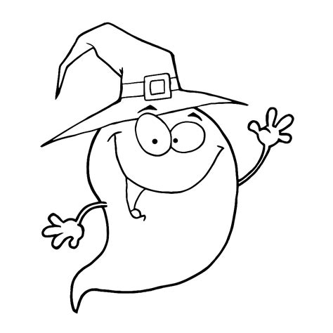 Kleurplaat Spook by Leuk Voor Een Grappig Spook
