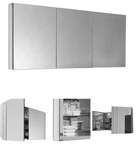"Fresca 60"" Wide Bathroom Medicine Cabinet   Modern"