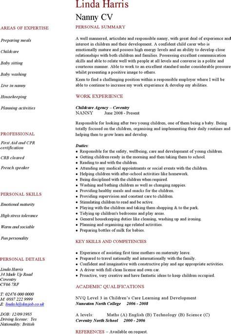 best time nanny resume for resume best