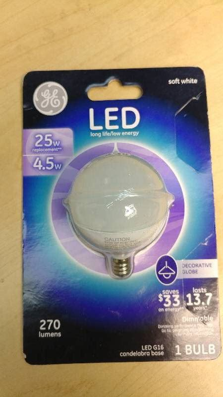 led replacement bulbs for ceiling fans general electric 25w replacement led g16 candleabra base