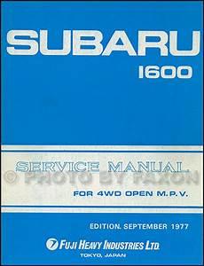 1978 Subaru 1600 Repair Shop Manual Original