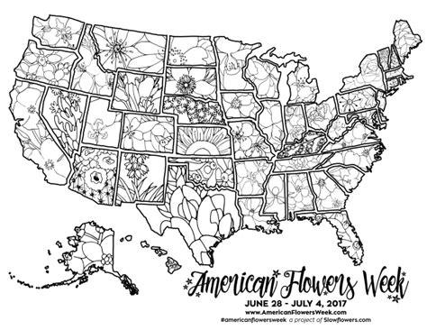 state flowers  coloring pages american flowers week