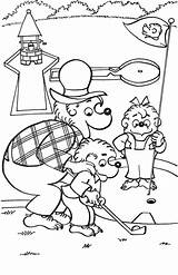 Coloring Golf Bears Berenstain Colouring Sheets Printable Sheet sketch template