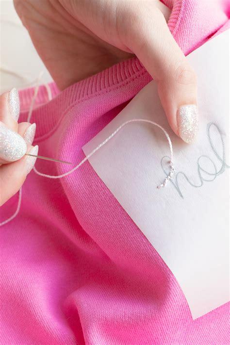 diy embroidered sweatshirt my fave easy embroidery hack studio diy