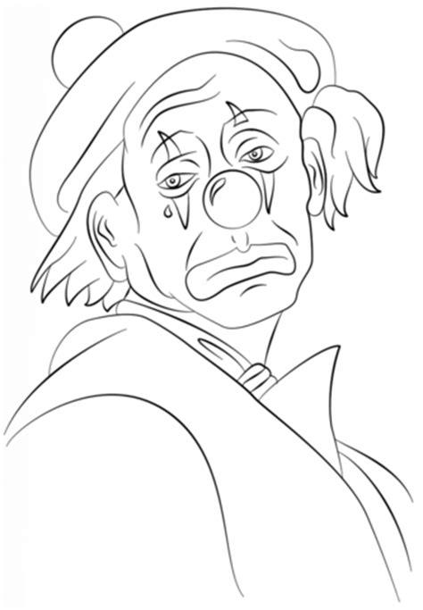 desenho de palhaco triste  colorir desenhos