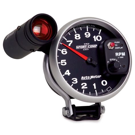 autometer 3699 sport comp ii electric 5 quot tachometer 0 10k w monster shift lite ebay