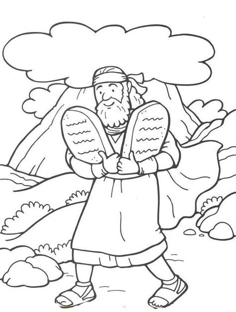 ten commandment coloring pages coloring home