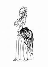 Coloring Colorear Corset Colorare Colouring Disegno Coloriage Dibujo Robe Victorian Vestido Bustino Tournure Adult Bustle Vestito Kleid Korsett Kleed Malvorlage sketch template