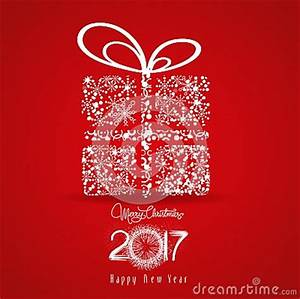 Merry Christmas And Happy New Year 2017 Snowflakes Gift