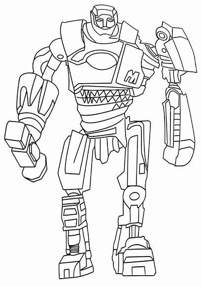 Coloring Steel Boy Noisy Drawing Robot Realsteel