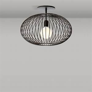 Deckenlampe Schwarz Metall : raumleuchte mit stahlkorb ~ Lateststills.com Haus und Dekorationen