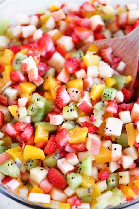 fruit salsa  cinnamon chips  gunny sack