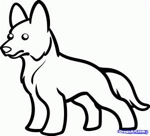 How to Draw a German Shepherd For Kids, Step by Step ...