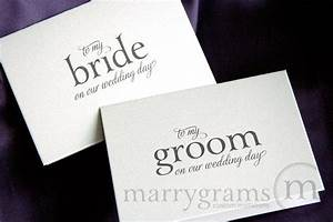 wedding card to your bride or groom on your our wedding With gift for my bride on our wedding day