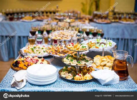 canape stock buffet table canape sandwiches snacks table