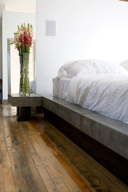 concrete bed wood floors beautiful future home ideas concrete furniture concrete interiors bedroom wall