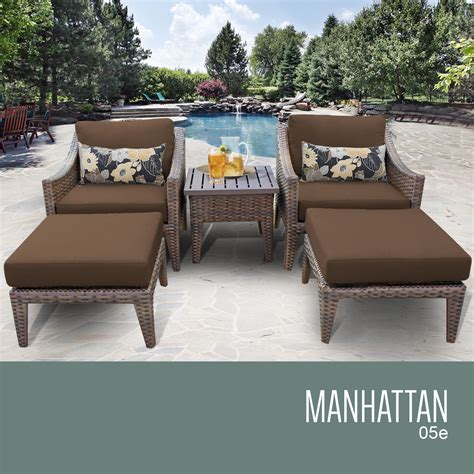 tk classics manhattan 5 outdoor wicker patio