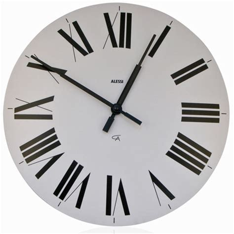 "Alessi Classic Firenze 14.25"" Wall Clock with Roman"