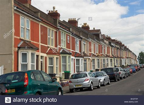 Row Of English Urban Terraced Houses Shirehampton Bristol