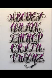 Fancy Tattoo Lettering Alphabet