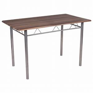 5 Piece Dining Set Wood Metal Table and 4 Chairs Kitchen ...