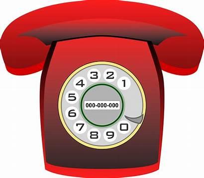 Rojo Phone Heraldo Clipart Classic Telefono Telefono