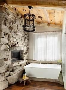 Salle de bain pierre et bois une beaute naturelle for Salle de bain design avec pierres décoratives jardin