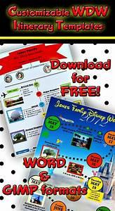 Vacation Travel Itinerary Template 2 Custom Disney World Itinerary Templates Travel